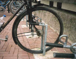 Bike Fork In Parking