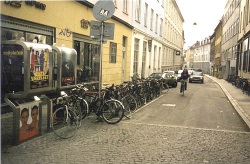 bike parking in car space