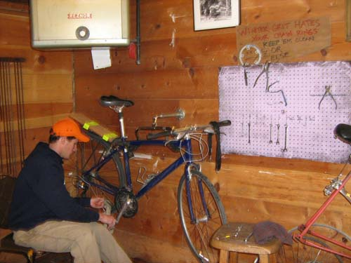 Example of a bike work station