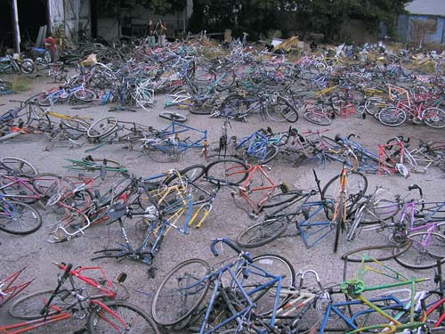 Overflow stock for making bikes out of bikes